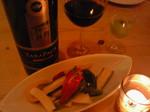 チリの赤ワイン「TARAPACA」と自家製ピクルス