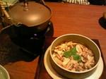 松茸釜飯。おだしがまた美味しい!