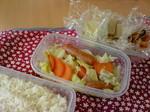切干大根と高野豆腐と温野菜